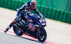Download wallpapers Michael van der Mark, rider, Yamaha YZF-R1, sportbikes, SWC, Yamaha Factory Racing Team, FIA