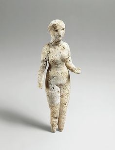 Figure of a standing woman,Period:  Parthian, 2nd century B.C.–2nd century A.D.,Gypsum alabaster