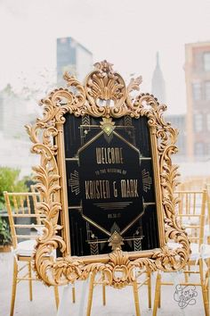 Mimosa Discover Gatsby Wedding Welcome Sign Gold and Black Roaring Art Deco Welcome Poster Custom Printable Reception Decor Gatsby wedding great gatby art deco wedding black and gold wedding wedding decor reception decor roaring vintage wedding Gatsby Wedding Decorations, Great Gatsby Wedding, Wedding Themes, Gold Wedding, Wedding Colors, Wedding Black, Wedding Art, Wedding Ideas, Trendy Wedding