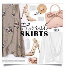 """""""Yoins: Floral Skirt"""" by yoinscollection ❤ liked on Polyvore featuring Mansur Gavriel and Anja"""