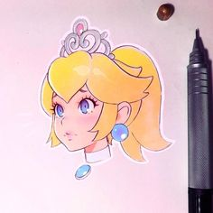Princess Peach Sketch kuvshinov_ilya on Instagram