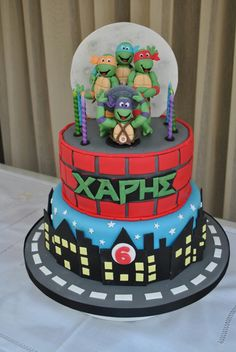 ... Cakes, Teenage Mutant Ninja Turtles, Ninja Turtle Cakes, Tmnt Party