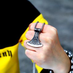 316L Stainless Steel Amulet Pendant Necklace Axe Pendant Legendary Viking Runes Pendant VikingNordic Talisman jewelry Pretty Clothes, Pretty Outfits, Beautiful Outfits, Pregnancy Fashion, Maternity Fashion, All About Fashion, Passion For Fashion, Skirt Fashion, Fashion Outfits