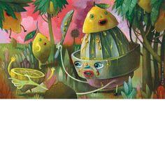 Charlie Immer Lemon Juicer    Oil on Paper    11 x 7 in  Plansponser
