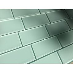 """Found it at Wayfair - 3"""" x 6"""" Glass Subway Tile in Seafoam single pane of glass not tiles though?"""