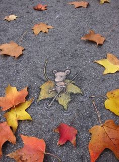 Mouse street Art by David Zinn - if you stop and look around you see so much more of the world <3