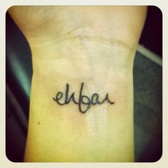 "ehfar - everything happens for a reason. I'm always saying ""everything happens for a reason."" and I love this."