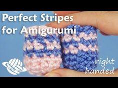 Cambio filo perfetto -Perfect Stripes for Amigurumi (right-handed version) Crochet Diy, Crochet Round, Tunisian Crochet, Crochet Dolls, Single Crochet, Crochet Stitches, Amigurumi Patterns, Crochet Patterns, Change Colors In Crochet