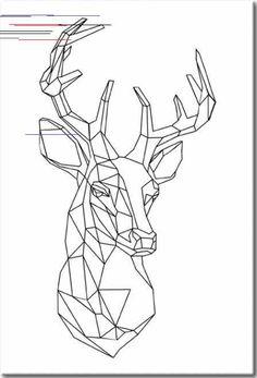 This item is unavailable Geometric Shapes Art, Geometric Deer, Geometric Drawing, 3d Zeichenstift, Animal Drawings, Art Drawings, Deer Drawing, Contour Drawing, Polygon Art