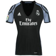 Real Madrid Away Black Thailand Fans Women's Soccer Jersey Real Madrid Shirt, Real Madrid Soccer, Cozy Sweaters, Adidas Women, Brand Names, Wetsuit, Thailand, Sweatshirts, Swimwear