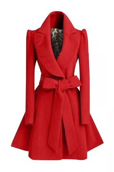 a long-sleeved coat crafted from solid color with a notch lapel, a belt, and longline silhouette.
