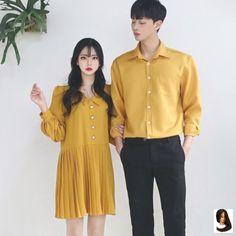 or 🌼🌼 𝚂𝙴𝙾𝚄𝙻 𝚂𝙿𝚁𝙸𝙽𝙶 𝚂𝚃𝚈𝙻𝙴 -. or 🌼🌼 𝚂𝙴𝙾𝚄𝙻 𝚂𝙿𝚁𝙸𝙽𝙶 𝚂𝚃𝚈𝙻𝙴 - 𝚃𝙷𝙴𝙼𝙴: 𝙲𝙾𝚄𝙿𝙻𝙴 𝙼𝙰𝚃𝙲𝙷𝙸𝙽𝙶 𝚈𝙴𝙻𝙻𝙾𝚆 𝙵𝙾𝚁𝙼𝙰𝙻 🌼🌻 Korean Fashion School, Korean Fashion Summer, Korean Fashion Casual, Ulzzang Fashion, Korea Fashion, Korean Outfits, Japanese Fashion, Asian Fashion, Punk Fashion