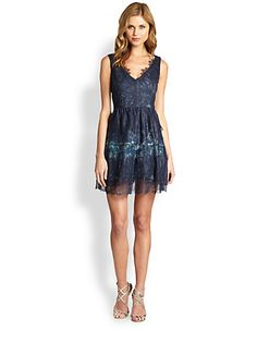 Kind of Monet-esque in some ways... // BCBGMAXAZRIA - Willa Lace Dress - Saks.com