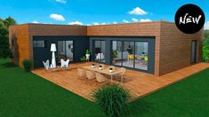 Wooden house: 13 models to make the right choice! Wood House Design, Modern Small House Design, Sims House Design, Container Home Designs, Container House Plans, Modern Bungalow House, Modern House Plans, Backyard Guest Houses, Flat Roof House