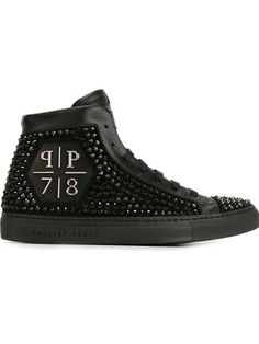 Philipp Plein 'rainbow Warrior' Hi-top Sneakers Rainbow Warrior, Fashion Shoes, Mens Fashion, Fashion Collage, Men's Shoes, Shoes Sneakers, Calf Leather, Black Suede, Calves