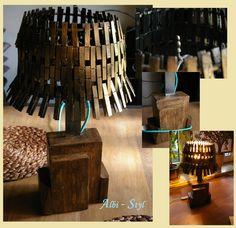.Lampa- podstawa drewno sosnowe z elementami metalu, pomalowane lakierem do postarzania i złotą patyną - abażur???-kto zgadnie cóż to ?- podoba się???  __________________________________ Lamp - pine wood base with elements of metal, painted lacquer to aging and gold patina - lampshade ??? - can guess what is it? - Like it???