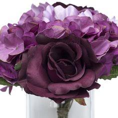 Silk Roses and Hydrangea Nosegay Bouquet - Eggplant Purple BalsaCircle http://www.amazon.com/dp/B00IX2L8PI/ref=cm_sw_r_pi_dp_HLTxub0QVAPBG