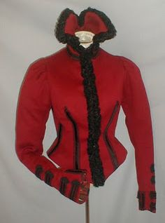 I'd wear this now; I love this style! -Early 1890's Winter Bodice