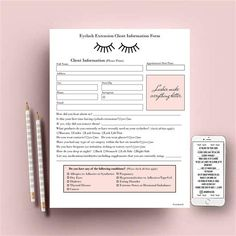 Eyelash Extension Consultation Form Template Fill Online