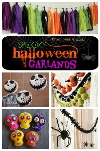 spooky halloween garlands