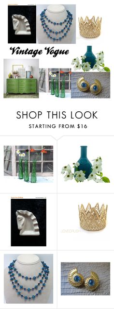 """""""Vintage Vogue"""" by martinimermaid ❤ liked on Polyvore featuring interior, interiors, interior design, home, home decor, interior decorating and vintage"""