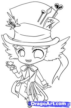 How to Draw Chibi Mad Hatter, Step by Step, Chibis, Draw Chibi ...