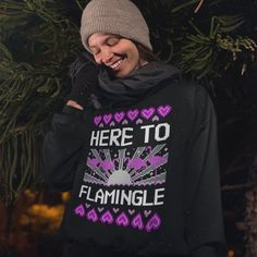 a5bfd9b62021 Here To Flamingle | Unisex Sweatshirt | Flamingo Christmas | Funny Christmas  Sweater | Christmas Jumper | Xmas Sweater | Plus Size | S - 5XL