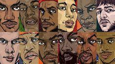 NBA Superstar Witnesses Illustrations (12 PHOTOS)