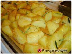 Πατάτες με πλούσια σάλτσα πάπρικας φωτογραφία βήματος 2 Cantaloupe, Potato Salad, Fruit, Vegetables, Ethnic Recipes, Food, Red Peppers, Vegetable Recipes, Eten
