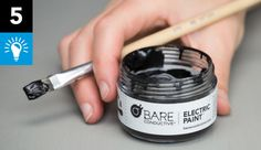 Electric Paint is like any other paint ... except it conducts electricity! Don't know where to begin? Here are some quick ideas!