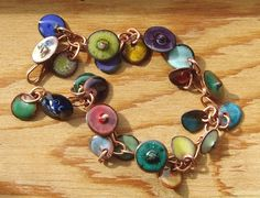 prototype enameled bracelet... headpins and charms