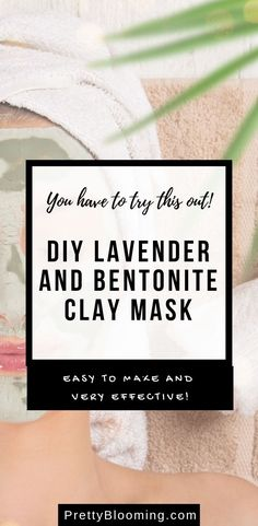 If you've never tried bentonite clay before, you are missing out! Whip up a batch of this Lavender Bentonite Clay Face Mask and give your skin some love. Facial For Dry Skin, Facial Skin Care, Natural Skin Care, Diy Skin Care, Skin Care Tips, Bentonite Clay Face Mask, Best Skin Care Routine, Clay Faces, Skin Care Remedies