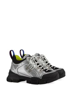 32e535e55d0 Gucci   Flashtrek Leather Sneakers - nspired by the hiking world, this shoe  line combines