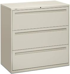 42inW 3 Drawer Lateral File FG369 by Hon. $698.00. 42inW 3 Drawer Lateral FilebyHON Trusted: 20+ Years Experience. Overall: 42 in W x 19.25 in D x 40.88 in H ,