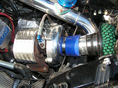 Turbo in place with Heat shields and HKS mushroom filter