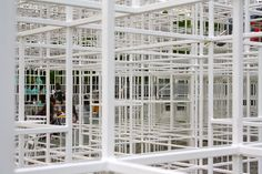 The Japanese architect Sou Fujimoto designed the 2013 pavilion. A clever work of strength and lightness, simplicity in complexity. The structure appears to follow the basic architectural principles of point, line, plane and volume. Simple metal bars are connected together to create cartesian cubic forms however, their irregular growth and lack of symmetry lend the space its organic character…. More on the blog….