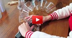 If you've waited till last minute to decorate for Christmas, this idea is easy and quick... And it'll look awesome once you're done... All you need is plastic cups, LED lights, and a stapler...