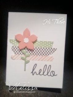 Stampin' Up! Hi There by Melissa Davies @rubberfunatics  #rubberfunatics #stampinup