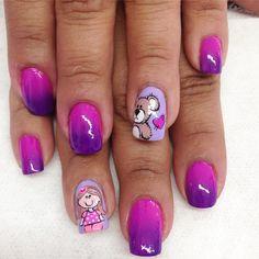 Cute Nail Art, Cute Nails, Uñas Diy, Girls Nails, Nail Arts, Makeup Art, Nail Art Designs, Acrylic Nails, Polish