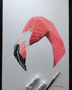 "My ""Flamingo"", A3 size,gouache paints, I'm still thinking to add the background to this artwork, will decide tomorrow) #art #artist #artwork #abstract #abstractart #australia #australianartist #adelaide #adelaideart #drawing #painting #modern #modernart #flamingo #animal #wild #nature #contemporary art #decor #decoration #design #handmade #bird #pink #bright #color #фламинго #рисование #творчество #thecityadelaide"