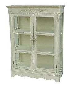 kitchen display cupboard with distressed look