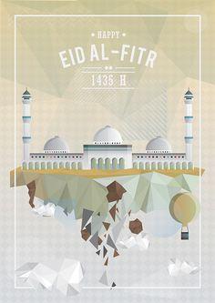 Greeting Cards: Happy Eid al-Fitr 1435H on Behance