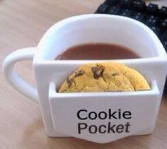 so cute! mug with cookie holder
