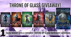 We are giving away THE COMPLETE THRONE OF GLASS COLLECTION IN HARDCOVERS! There's Throne of Glass, Crown of Midnight, Heir of Fire, Queen of Shadows, Empire of Storms, and Tower of Dawn (Preorder), We also have FOUR additional prizes you could win which you will receive details about after you enter. That is in addition to the one winner who will win the entire Throne of Glass collection in hardcovers delivered to their door! How fabulous is that? Don´t forget to share your Lucky URL to…