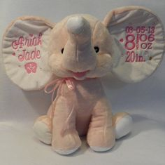 This adorable little elephant (Dumble) makes the perfect gift for any occasion. Birth, graduation, Birthday, Sports, etc. These little guys