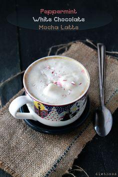 Peppermint White Chocolate Mocha Latte @diethood