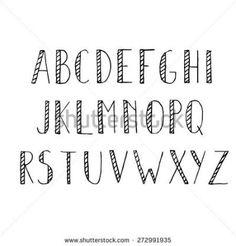 Hand Drawn Alphabet Set Pencil
