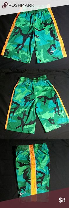 Nike Athletic Shorts Green camo athletic shorts for boys. Like new! Nike Bottoms Shorts