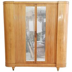 For Sale on 1stdibs - Beautiful wardrobe in ashwood for the entrance to put away coats, jackets, hats and umbrellas. This piece is produced with a very high quality. It features