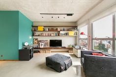 An Open Apartment in Brazil Full of Raw Materials - Design Milk